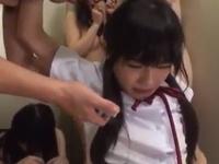 「先生やめてぇ!」美少女JK達が担任教師に口内ピストンされ泣きながら悶えるw