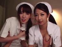 夜勤中の淫乱痴女ナース達が病室に侵入して患者を逆レイプ