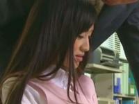 「ここで‥ですか?」同僚に肉便器調教された美人OLがオフィス内で性処理開始!