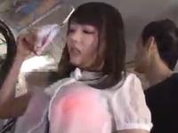 浜崎真緒が満員バスで集団痴漢されたっぷり膣中にザーメンを注がれるw