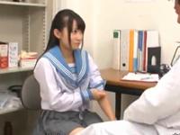 素人JKに検査と称し膣内ハメ検査を行う鬼畜医師