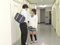 学園のアイドルが廊下でこっそりばれないようにジュポフェラ