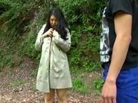 ムッチリスケベな巨乳熟女を青姦調教FUCK!