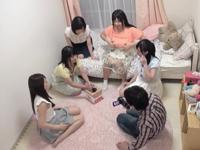 「中でいっぱい出てる…」巨乳美女達に囲まれながら童貞卒業!