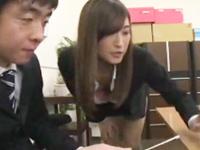 山●美月似の美人OLが同僚チンポ痴女ってオフィスで搾精!