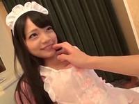 ロリカワ美少女にメイドコス姿にさせてホテルでハメる!