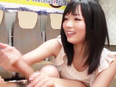 「イっちゃっていいんですよ?」麻倉憂ちゃんの猛攻に10分耐えきれたら生本番セックス!