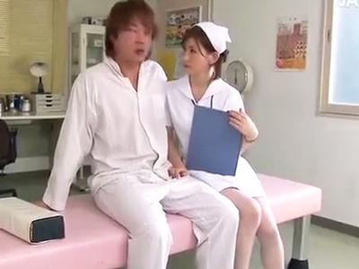 「誰も来ないから大丈夫」淫乱ナースが患者を誘惑し性欲を満たす!