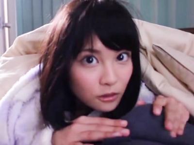 特大Hカップ妹・松岡ちなちゃんのモーニングフェラで朝っぱらから大量射精!