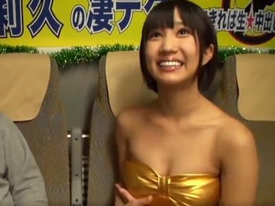 スタイル抜群娘・湊莉久ちゃんの凄テクに耐え切れば生膣内射精SEX!