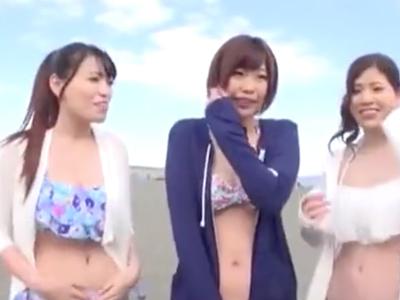 海で一気に3人組のナンパに成功し即パコw