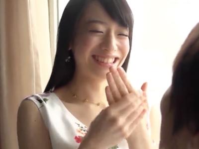 菅野美穂みたいな華奢な少女がハニカミながらウブH
