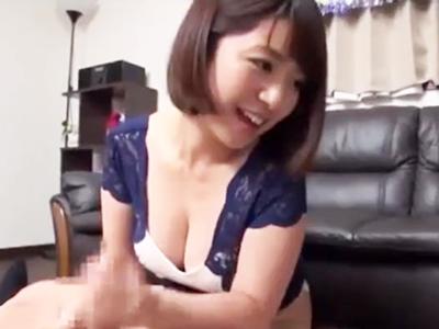 爆乳美女・尾上若葉ちゃんの凄テクを耐え切れたら生中出しSEX!