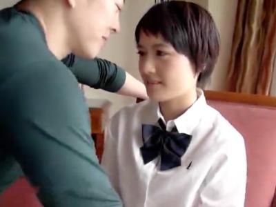 ショトカが似合う美少女JKの制服を汚すイチャラブSEX