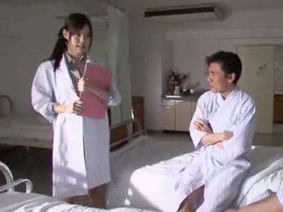 清楚で可愛い美人女医が鬼畜患者2人にレイプされて屈服アクメ