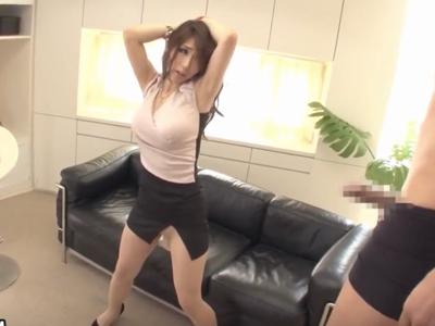 スタイル抜群タイトスカート美女が着衣で絶叫FUCK