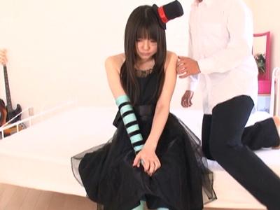 けいおん!秋山澪のコスプレしたロリ少女とガチハメ