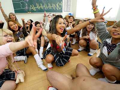 教師がAIKAって時点でヤバそうなギャルだらけの学園でザーメン枯渇する乱交