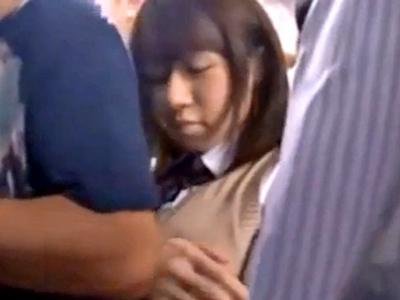 電車にて、巨乳のJK女子校生の、痴漢顔射レイプ無料H動画!【JK、女子校生、美少女動画】