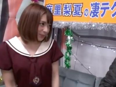 「やだ悔しいぃっ!」ロリカワお姉さん麻里梨夏の10分猛攻に耐えてみごと中出しGET