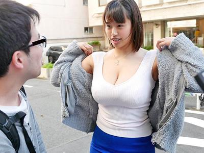 「いいよぉ!中に出してぇ!」素人男性がとんでもないボイン美人に膣内射精