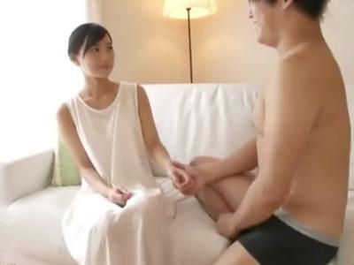 緊張してガッチガチの清楚すぎる美少女の放心SEX