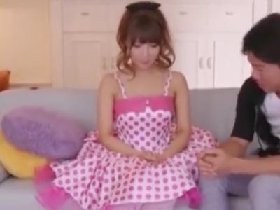 ふわふわアイドル衣装の美少女のイチャラブSEX