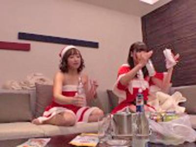 クリスマスの聖夜にナンパしたサンタコス美女とハメPARTY