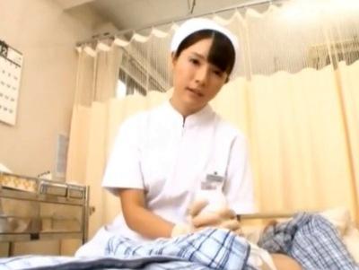天使のような看護師さんが入院患者にオナサポ→ねっとりとした舌使いで後処理まで完全看護